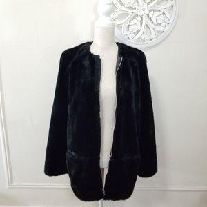 Zara size S faux fur coat